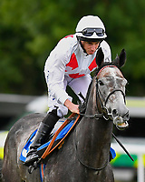 Past Master ridden by Ryan Moore goes down to the start  of The Lester Brunt Wealth Management Handicap during the Bathwick Tyres & EBF Race Day at Salisbury Racecourse on 6th September 2018