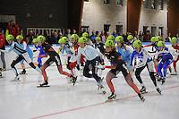 SCHAATSEN: LEEUWARDEN: 30-09-2015, Elfstedenhal, 1e competitiewedstrijd Mass Start, Start Dames A, Irene Schouten (#51), ©foto Martin de Jong