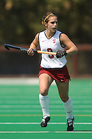 Stanford, CA - SEPTEMBER 13:  Midfielder Xanthe Travlos #9 of the Stanford Cardinal during Stanford's 3-2 loss against the Iowa Hawkeyes on September 13, 2008 at the Varsity Field Hockey Turf in Stanford, California.
