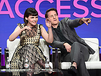 "BEVERLY HILLS - AUGUST 1: Ginnifer Goodwin, Sam Jaeger onstage during the ""Why Women Kill"" panel at the CBS All Access portion of the Summer 2019 TCA Press Tour at the Beverly Hilton on August 1, 2019 in Los Angeles, California. (Photo by Frank Micelotta/PictureGroup)"