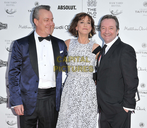 LONDON, ENGLAND - APRIL 19: Stephen Tompkinson, Haydn Gwynne &amp; Neil Pearson attend the Gala Celebration in Honour of Kevin Spacey, The Old Vic theatre, The Cut, on Sunday April 19, 2015 in London, England, UK. <br /> CAP/CAN<br /> &copy;Can Nguyen/Capital Pictures