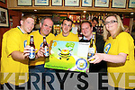 MAKE MINE A BEER: Local puplicans are organising their annual Beer Festival in aid of Bee for Battens on July 31st. From l-r were: Shane Foley, John Hanafin, Teo Shea, Noel Flahive and Siobhan Guilfoyle.