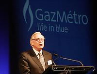 Robert Parizeau,<br /> president du conseil d'administration de Gaz M&Egrave;tro<br /> Assemblee Annuelle GAZ annual meeting<br /> Montreal, feb 2 , 2006