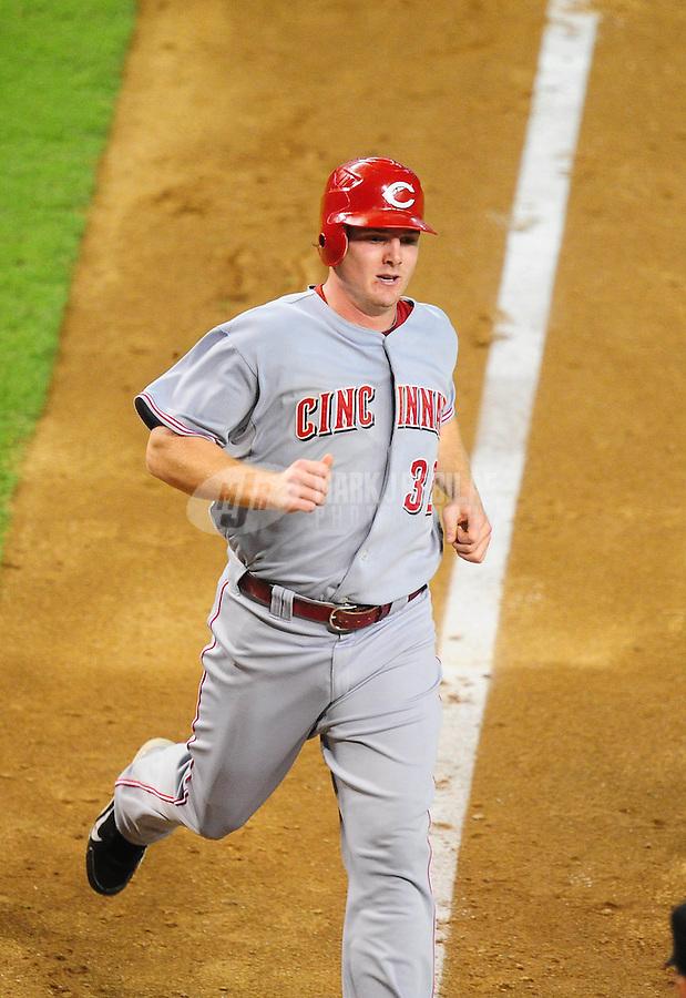 Aug. 19, 2010; Phoenix, AZ, USA; Cincinnati Reds outfielder Jay Bruce against the Arizona Diamondbacks at Chase Field. Mandatory Credit: Mark J. Rebilas-.