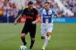 CD Leganes's Roque Mesa and Atletico de Madrid's Jorge Resurreccion 'Koke' during La Liga match between CD Leganes and Atletico de Madrid at Butarque Stadium in Madrid, Spain. August 25, 2019. (ALTERPHOTOS/A. Perez Meca)