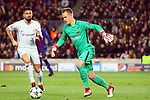 UEFA Champions League 2017/2018.<br /> Round of 16 2nd leg.<br /> FC Barcelona vs Chelsea FC: 3-0.<br /> Olivier Giroud vs Marc-Andre Ter Stegen.