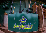 4 September 2017: The Vermont Lake Monsters baseball bat bin starts to collect lumber prior to the first game of a double-header against the Tri-City ValleyCats at Centennial Field in Burlington, Vermont. The teams split their day, with Tri-City winning 6-5 in the first game, and the Lake Monsters taking the second 7-4 in NY Penn League action. Mandatory Credit: Ed Wolfstein Photo *** RAW (NEF) Image File Available ***