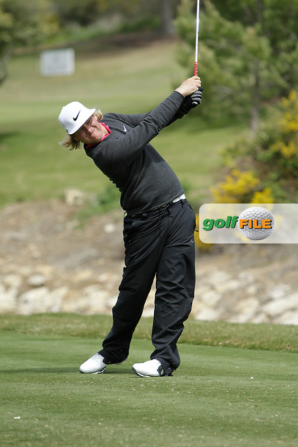 Connor Arendell (USA) during Round 1 of the NH Collection Open at the La Reserva de Sotogrande Club de Golf in Cadiz Spain on Thursday 3rd April 2014<br /> Picture:  Thos Caffrey / www.golffile.ie