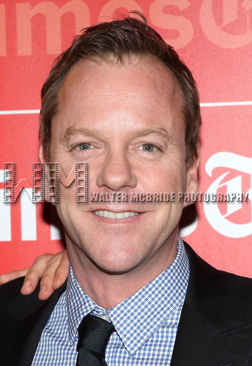 TimesTalks Presents A Conversation With The Champion Acting Ensemble, Kiefer Sutherland with cast members of Broadway's  'That Championship Season' at the Times Center in New York City.