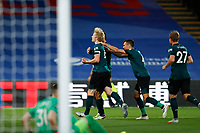 29th June 2020; Selhurst Park, London, England; English Premier League Football, Crystal Palace versus Burnley Football Club; Ben Mee of Burnley celebrates with his team mates after scoring his sides 1st goal in the 62nd minute to make it 0-1