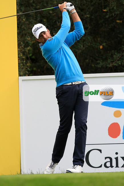 Simon Thornton (IRL) on the 15th tee during Practice Day of The Open De Espana at The PGA Catalunya Resort on Tuesday 13th May 2014.<br /> Picture:  Thos Caffrey / www.golffile.ie