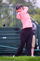 Belen Mozo (ESP) watches her tee shot on 1 during Friday's second round of the 72nd U.S. Women's Open Championship, at Trump National Golf Club, Bedminster, New Jersey. 7/14/2017.<br /> Picture: Golffile | Ken Murray<br /> <br /> <br /> All photo usage must carry mandatory copyright credit (&copy; Golffile | Ken Murray)