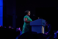 "ST. PAUL, MN JULY 16: Madam Esther Lungu,First Lady of Zambia, speaks at the Starkey Hearing Foundation ""So The World May Hear Awards Gala"" on July 16, 2017 in St. Paul, Minnesota. Credit: Tony Nelson/Mediapunch"