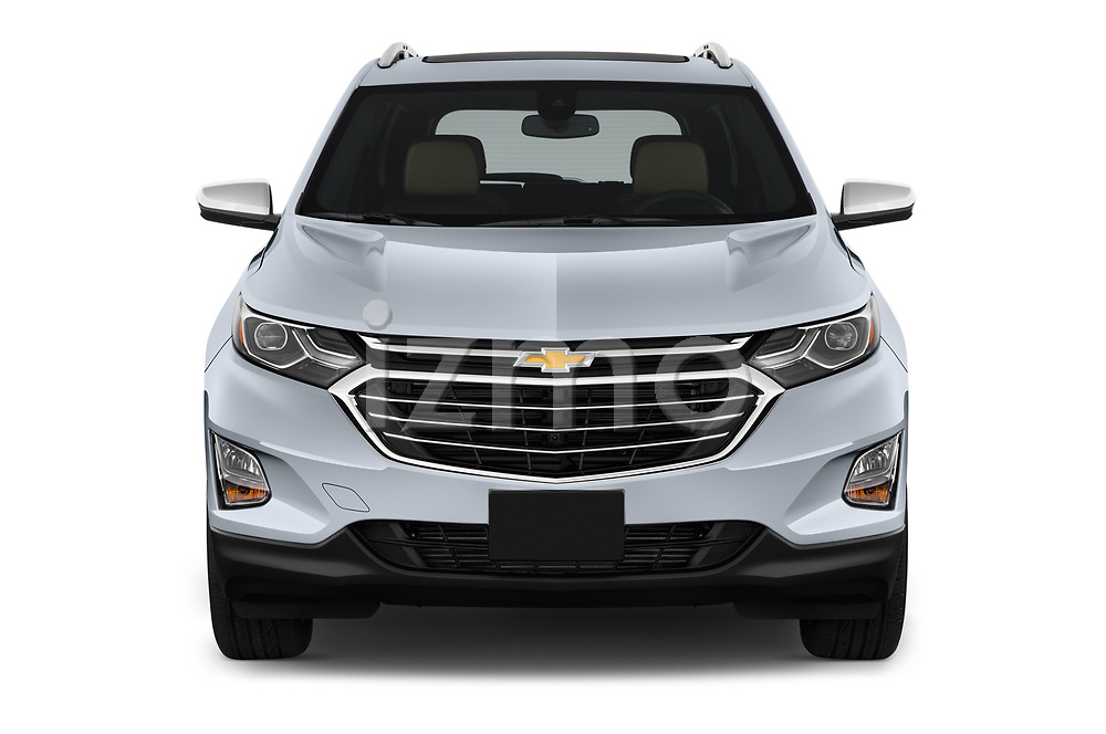 Car photography straight front view of a 2019 Chevrolet Equinox Premier 5 Door SUV