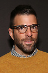 "Zachary Quinto Attends the Broadway Opening Night Arrivals for ""Burn This"" at the Hudson Theatre on April 15, 2019 in New York City."