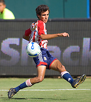 CD Chivas Mid Jonathon Bornstein during a MLS playoff match. Chivas beat Houston 2-1 at The Home Depot Center in Carson, California, Sunday Oct. 22, 2006.