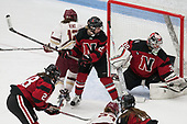 Kenzie Kent (BC - 12), Maddie Hartman (NU - 27), Brittany Bugalski (NU - 39) -  The Boston College Eagles defeated the Northeastern University Huskies 2-1 in overtime to win the 2017 Hockey East championship on Sunday, March 5, 2017, at Walter Brown Arena in Boston, Massachusetts.