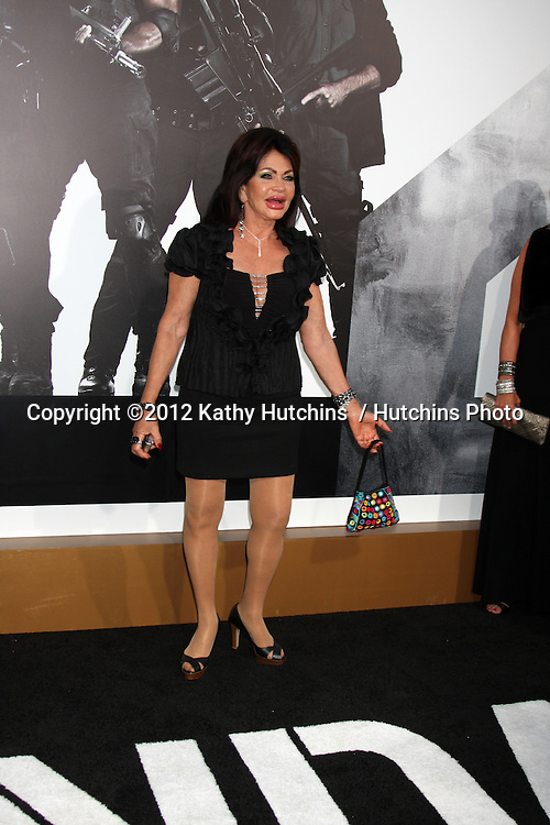 "Los Angeles - AUG 15:  Jackie Stallone arrives at the ""The Expendables 2""  Premiere at Graumans Chinese Theater on August 15, 2012 in Los Angeles, CA"