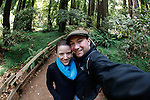 Brian and Allison in Muir Woods National Park in Mill Valley, California. (Photo by Brian Garfinkel)