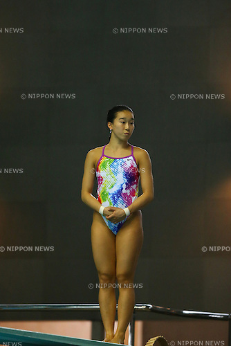 Hana Kaneto,<br /> SEPTEMBER 18, 2015 - Diving : <br /> All Japan Diving Championship 2015<br /> Women's 3m Springboard Final <br /> at Tatsumi International Swimming Center, Tokyo, Japan.<br /> (Photo by Shingo Ito/AFLO SPORT)