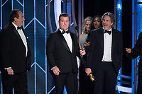 The Golden Globe is awarded to Nick Vallelonga, Brian Currie, and Peter Farrelly for BEST SCREENPLAY &ndash; MOTION PICTURE for &quot;Green Book&quot; at the 76th Annual Golden Globe Awards at the Beverly Hotel in Beverly Hills, CA on Sunday, January 6, 2019.<br /> *Editorial Use Only*<br /> CAP/PLF/HFPA<br /> Image supplied by Capital Pictures
