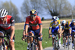 The peloton including Sonny Colbrelli (ITA) Bahrain-Merida descend off Paterberg during the 2019 E3 Harelbeke Binck Bank Classic 2019 running 203.9km from Harelbeke to Harelbeke, Belgium. 29th March 2019.<br /> Picture: Eoin Clarke | Cyclefile<br /> <br /> All photos usage must carry mandatory copyright credit (© Cyclefile | Eoin Clarke)