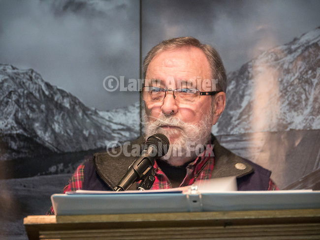 Shooting the West XXVII, Winnemucca, Nev.<br /> <br /> Sam Hipkins, master of ceremonies at STW 2015.