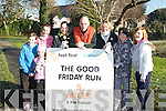 RUN: Launching The Good Friday Run in the Town Park, Tralee on Saturday were the Linnane family and friends from Tralee, L-r: Emma and Lucy Linnane, Kate and Catriona Kelly, Jerome Linnane, Anne Marie Horgan, Jack and Maeve Linnane.. ....