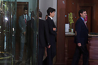 Miguel Boyer´s sons visit San Isidro funeral home following the death of Miguel Boyer in Madrid, Spain. September 29, 2014. (ALTERPHOTOS/Victor Blanco) /nortephoto.com