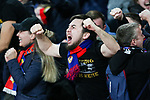 CSKA fans celebrate their side scoring during the UEFA Europa League Quarter-Final 1st leg match at the Emirates Stadium, London. Picture date 5th April 2018. Picture credit should read: Charlie Forgham-Bailey/Sportimage