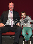 Shea Hughes and his grandson Ryan Campbell at the Lipsync for Hannah show in the TLT. Photo:Colin Bell/pressphotos.ie