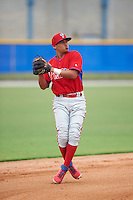 Philadelphia Phillies Grenny Cumana (12) during an instructional league game against the Toronto Blue Jays on September 28, 2015 at Englebert Complex in Dunedin, Florida.  (Mike Janes/Four Seam Images)