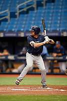 Ryan Boldt (29) at bat during the Tampa Bay Rays Instructional League Intrasquad World Series game on October 3, 2018 at the Tropicana Field in St. Petersburg, Florida.  (Mike Janes/Four Seam Images)