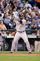 July 5, 2008:  The Detroit Tigers' Marcus Thames at-bat during a game against the Seattle Mariners at Safeco Field in Seattle, Washington.