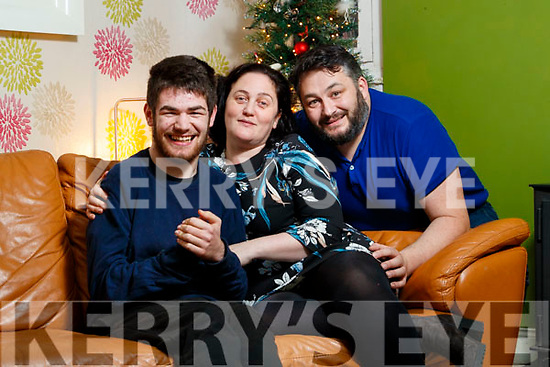 Lawless family from Castleisland, from left:  Ben, Nicola and Garreth