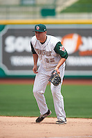 Fort Wayne TinCaps first baseman Brad Zunica (35) during the second game of a doubleheader against the Great Lakes Loons on May 11, 2016 at Parkview Field in Fort Wayne, Indiana.  Great Lakes defeated Fort Wayne 5-0.  (Mike Janes/Four Seam Images)