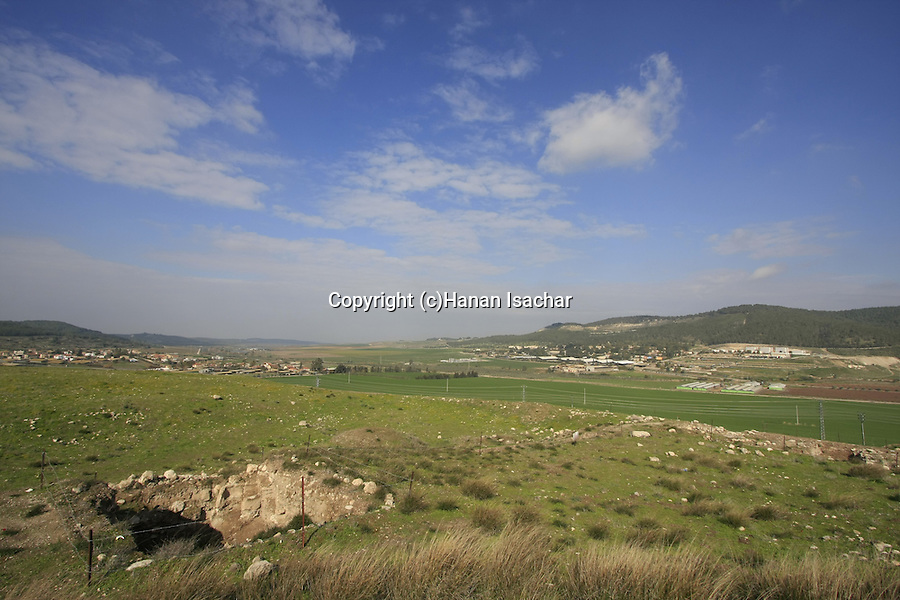 Israel, Shephelah. Sorek valley as seen from Tel Beth Shemesh