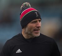 Harlequins' Head Coach Paul Gustard<br /> <br /> Photographer Bob Bradford/CameraSport<br /> <br /> Premiership Rugby Cup Semi Final - Exeter Chiefs v Harlequins - Sunday 2nd February 2020 - Sandy Park - Exeter<br /> <br /> World Copyright © 2018 CameraSport. All rights reserved. 43 Linden Ave. Countesthorpe. Leicester. England. LE8 5PG - Tel: +44 (0) 116 277 4147 - admin@camerasport.com - www.camerasport.com