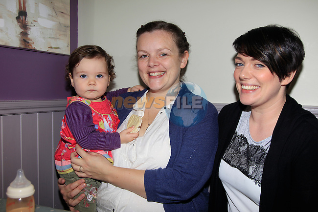 Lily O'Kane, Libby O'Kane &amp; Mags King during the Coffee morning for Mount Hanovar school at the Sage &amp; Stone on Thursday 20th November 2014.<br /> Picture:  Thos Caffrey / www.newsfile.ie