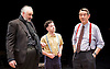 Orson&rsquo;s Shadow by Austin Pendleton<br /> at Southwark Playhouse, London, Great Britain <br /> press photocall <br /> 1st July 2015 <br /> <br /> John Hodgkinson as Orson Welles<br /> Ciaran O&rsquo;Brien as Sean<br /> Adrian Lukis as Laurence Olivier<br /> <br /> <br /> Photograph by Elliott Franks <br /> Image licensed to Elliott Franks Photography Services