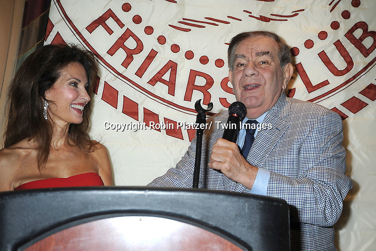 """Susan Lucci  and Freddie Roman at her book signing for her new book """"All My Life""""  at The Friars Club in New York City on September 7, 2011."""