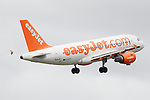 Pix: Shaun Flannery/shaunflanneryphotography.com...COPYRIGHT PICTURE>>SHAUN FLANNERY>01302-570814>>07778315553>>..26th April 2011.............easyJet Airbus A319-111 at Robin Hood Airport Doncaster Sheffield.