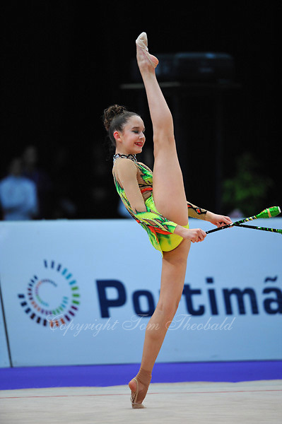 Valeria Tkachenko of Russia (junior) performs at 2010 World Cup at Portimao, Portugal on March 12, 2010.  (Photo by Tom Theobald).