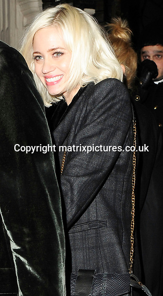 NON EXCLUSIVE PICTURE: MATRIXPICTURES.CO.UK.PLEASE CREDIT ALL USES..WORLD RIGHTS..Pictures show Pussycat Doll Kimberley Wyatt celebrating her 31st Birthday with her boyfriend Max Rogers and fellow Pussycat Doll, Ashley Roberts...The group left the nightclub Mahiki at 3am and went back to their hotel in London. ..Pictured here, is American singer Kimberley Wyatt...FEBRUARY 4th 2013..REF: ASI 13741