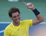 Rafael Nadal (ESP), defeats Tomas Berdych (CZE) 7-5, 7-6 at the Western & Southern Open in Mason, OH on August 17, 2013.