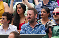 Lee Mack at Centre Court for the Gentlemen's Singles Final<br /> <br /> Photographer Ashley Western/CameraSport<br /> <br /> Wimbledon Lawn Tennis Championships - Day 13 - Sunday 16th July 2017 -  All England Lawn Tennis and Croquet Club - Wimbledon - London - England<br /> <br /> World Copyright &copy; 2017 CameraSport. All rights reserved. 43 Linden Ave. Countesthorpe. Leicester. England. LE8 5PG - Tel: +44 (0) 116 277 4147 - admin@camerasport.com - www.camerasport.com