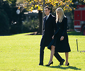 Presidential advisors Jared Kushner and Ivanka Trump depart The White House in Washington, DC, October 30, 2018 headed to Pittsburgh, PA to meet with members of the local Jewish community after a recent shooting at a synagogue. Credit: Chris Kleponis / CNP