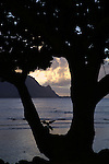 Hanalei Bay, Kauai, Hawaii, the view from below the Princeville Resort