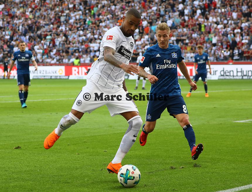 Kevin-Prince Boateng (Eintracht Frankfurt) gegen Lewis Holtby (Hamburger SV) - 05.05.2018: Eintracht Frankfurt vs. Hamburger SV, Commerzbank Arena, 33. Spieltag Bundesliga