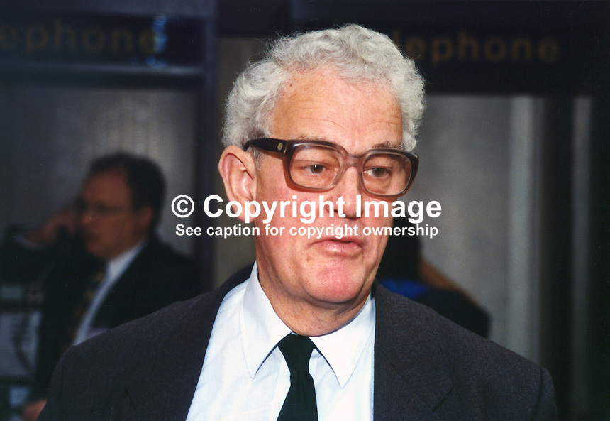 Tam Dalyell, MP, Labour Party, UK, 19961018TD1.<br /> <br /> Copyright Image from Victor Patterson, 54 Dorchester Park, Belfast, UK, BT9 6RJ<br /> <br /> t1: +44 28 9066 1296 (from Rep of Ireland 048 9066 1296)<br /> t2: +44 28 9002 2446 (from Rep of Ireland 048 9002 2446)<br /> m: +44 7802 353836<br /> <br /> e1: victorpatterson@me.com<br /> e2: victorpatterson@gmail.com<br /> <br /> The use of any of my copyright images is subject to my Terms &amp; Conditions.<br /> <br /> It is IMPORTANT that you familiarise yourself with them. They are available on my website, victorpatterson.com.<br /> <br /> None of my copyright images may be used on the Internet unless they are visibly watermarked, i.e. &copy; Victor Patterson within the body of the image. Metadata denoting my copyright must NOT be deleted. <br /> <br /> Web use is extra at currently recommended NUJ rates.